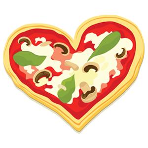 300x300 Heart Clip Pizza Cliparts