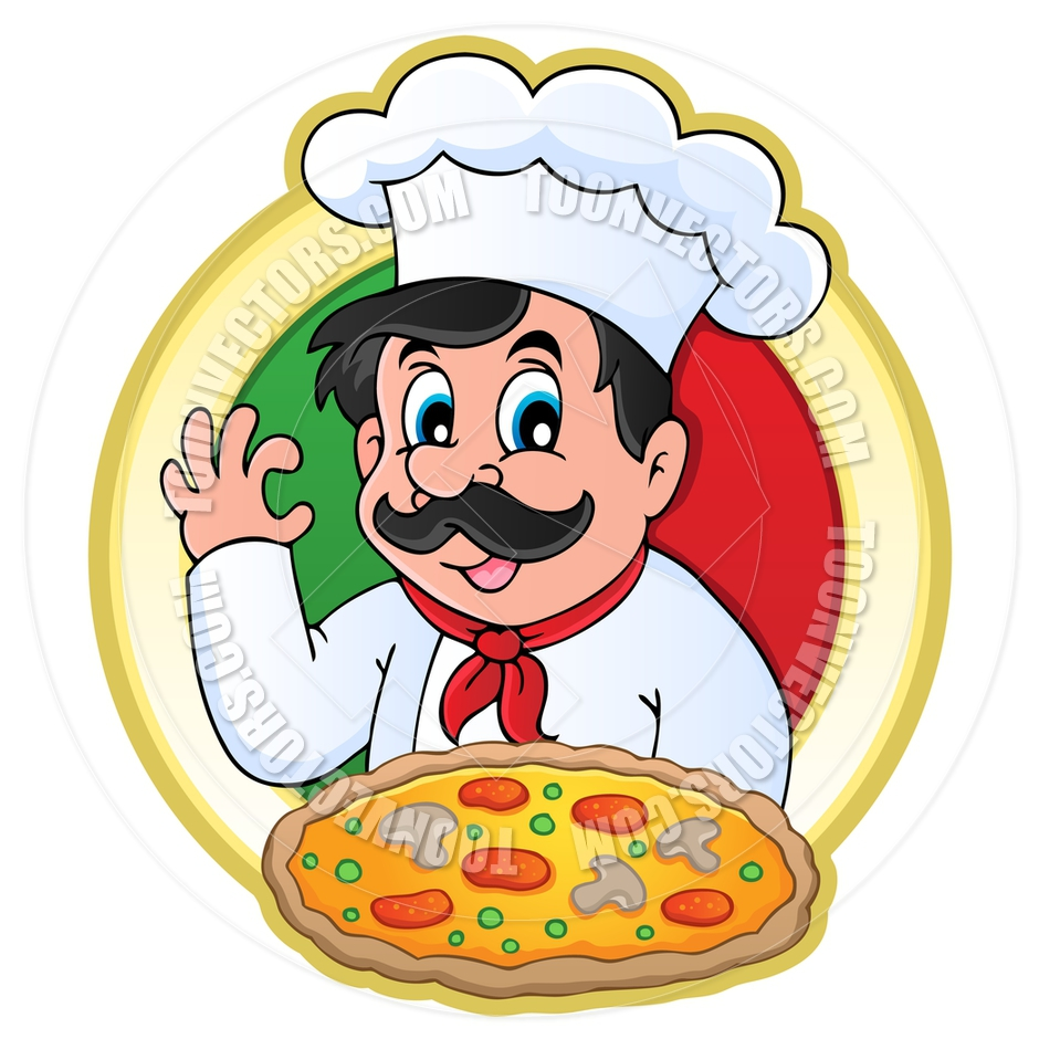 940x940 Cartoon Pizza Chef By Clairev Toon Vectors Eps