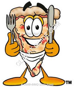 257x300 Clipart Cartoon Pizza Eating
