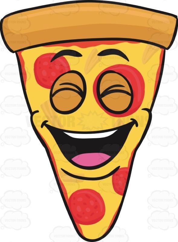 589x800 Laughing Slice Of Pepperoni Pizza Emoji Cartoon Clipart