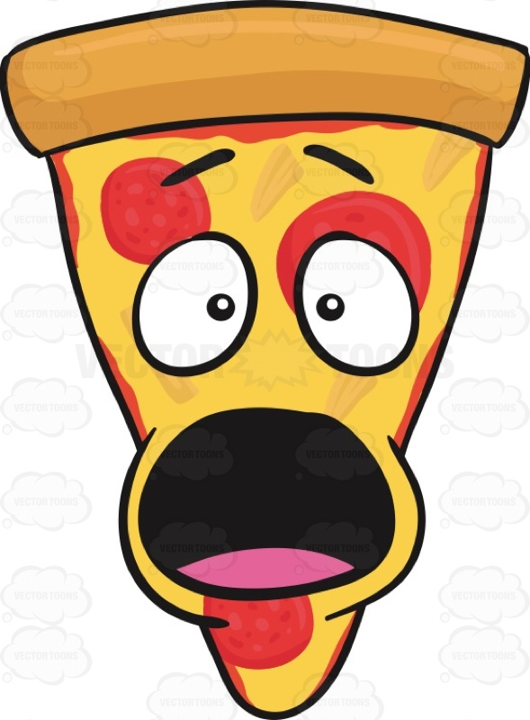 589x800 Startled And Shocked Looking Slice Of Pepperoni Pizza Emoji