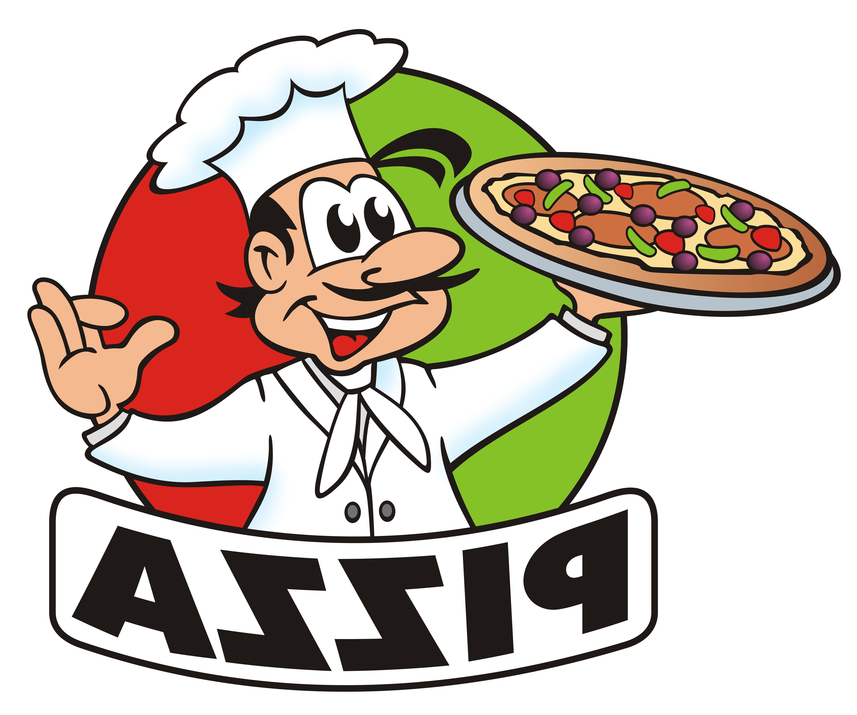 6000x5000 Unique Italian Chef Clipart Cartoon Pizza Image