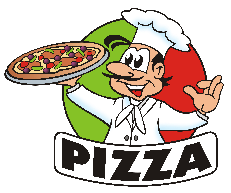 6000x5000 Italian Chef Cartoon Pizza Clipart