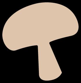 279x285 Mushroom Slice Clip Art