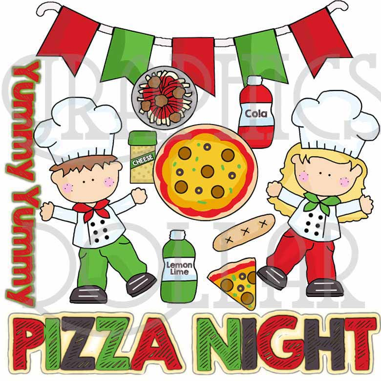 780x780 Pizza Night Clip Art