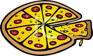 300x183 Clip Art Of Pizza