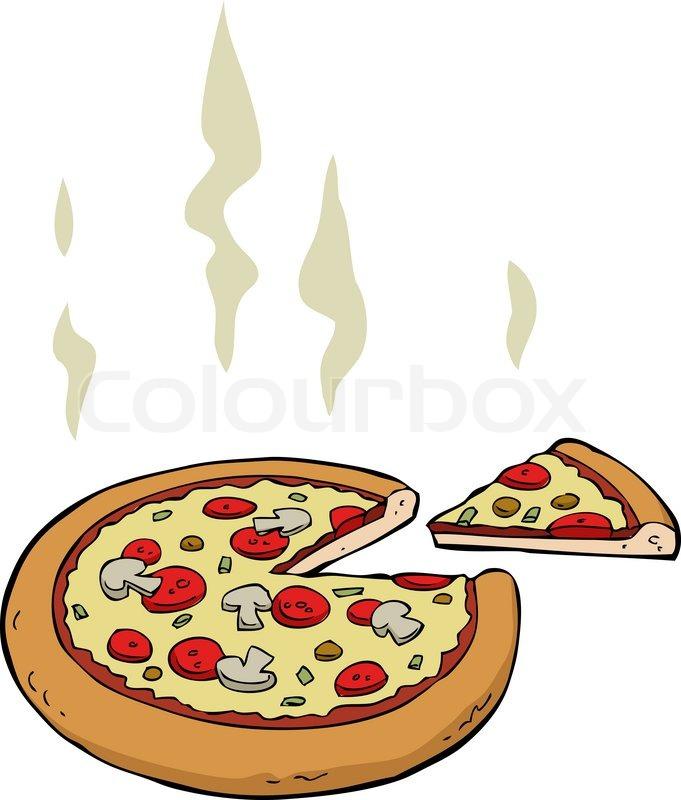 681x800 Cartoon Pizza Stock Photo Colourbox