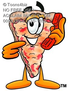 231x300 Clipart Image Of A Cartoon Pizza Character Holding A Pointing