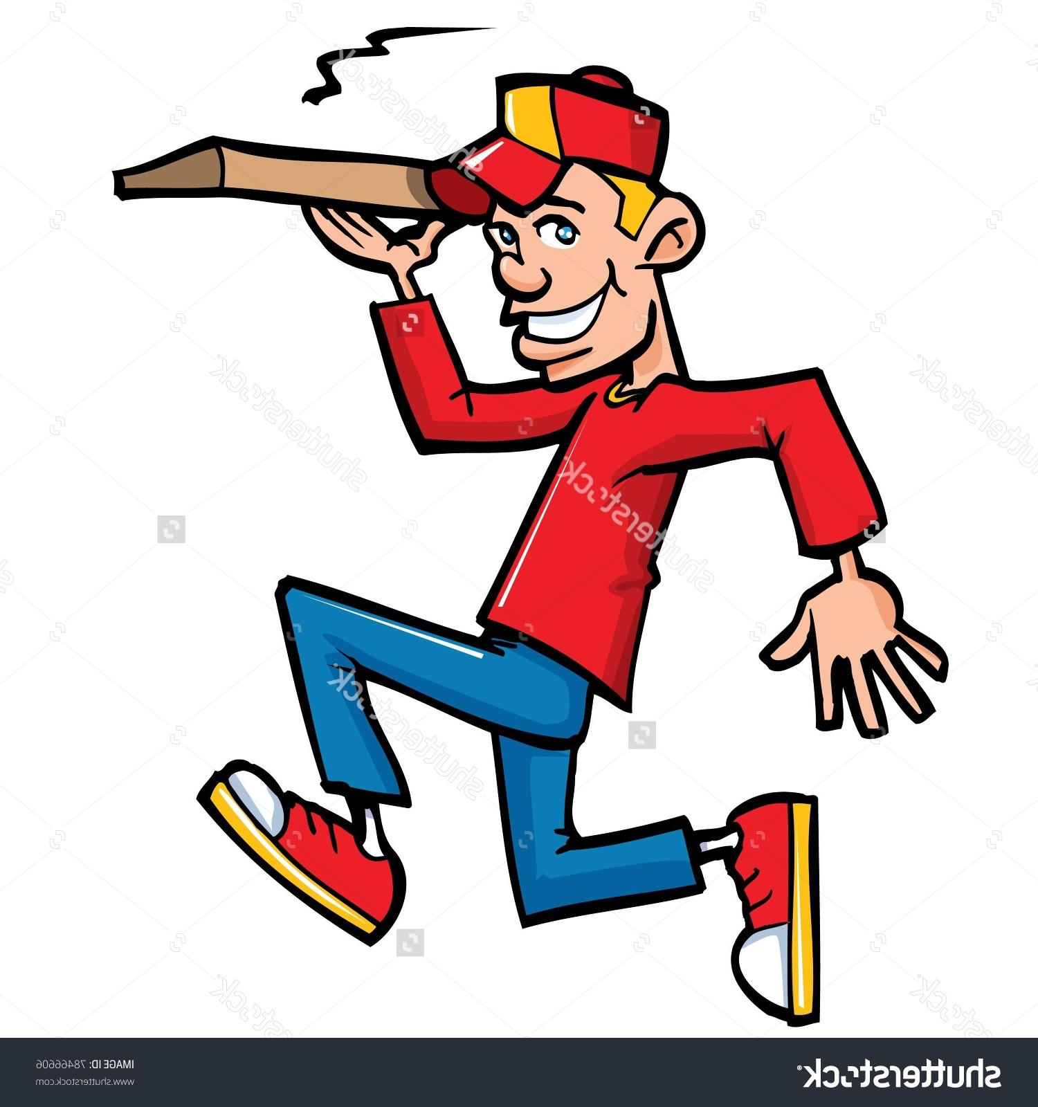 1500x1600 Best Hd Stock Vector Cartoon Of Pizza Running Delivery Boy