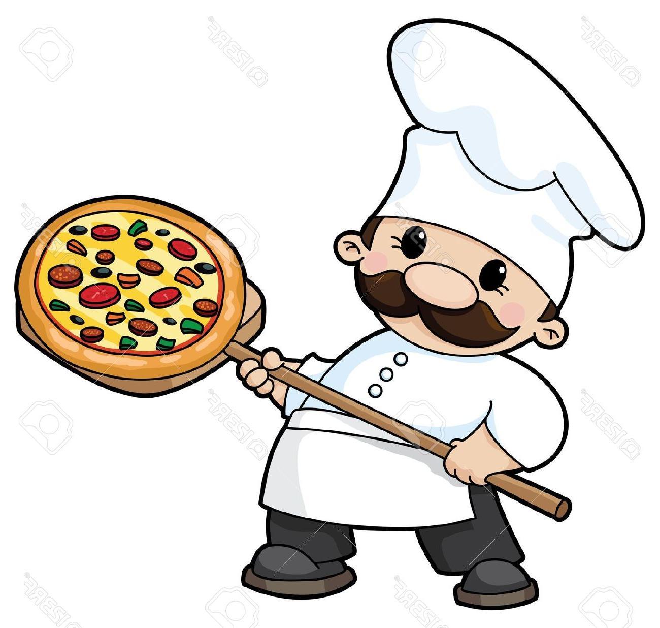 1300x1236 Unique Illustration Of Pizza Chef Stock Vector Cartoon Library