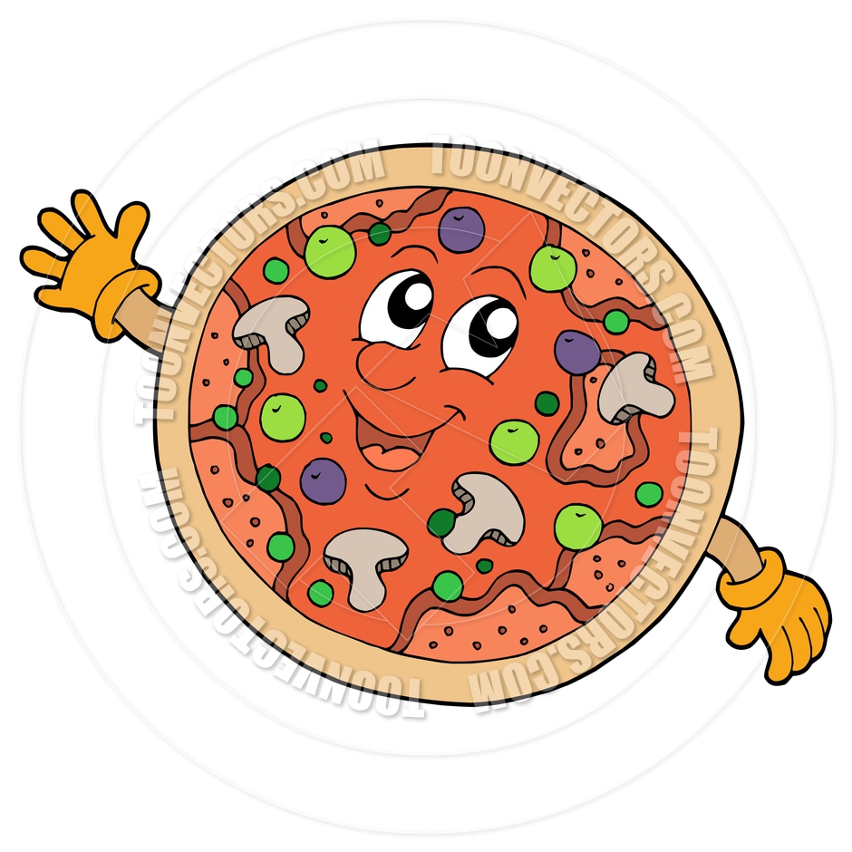 940x940 Cartoon Cute Smiling Pizza By Clairev Toon Vectors Eps