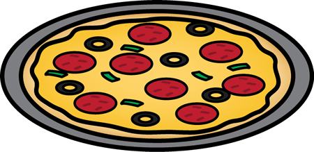 450x219 Pizza On A Pan Clip Art
