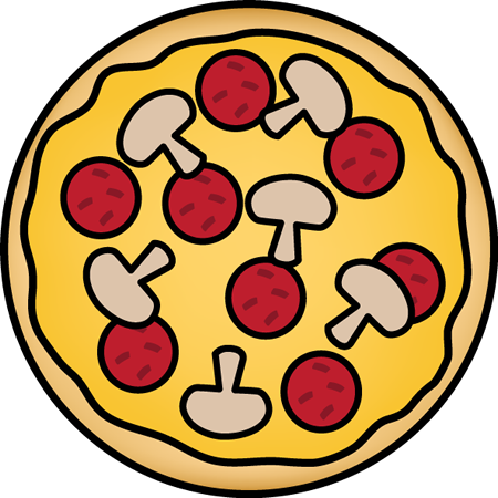 450x450 Pizza With Mushrooms Clip Art Pizza With Mushrooms Image
