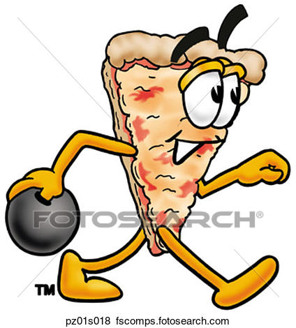 424x470 Clip Art Of Pizza Surfing Pz01s006