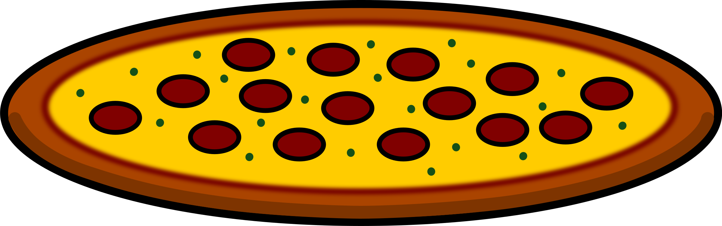 2400x751 Pizza Slice Clip Art