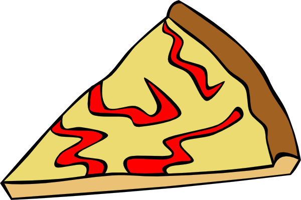 600x399 Cheese Pizza Slice Clip Art Free Vector 4vector