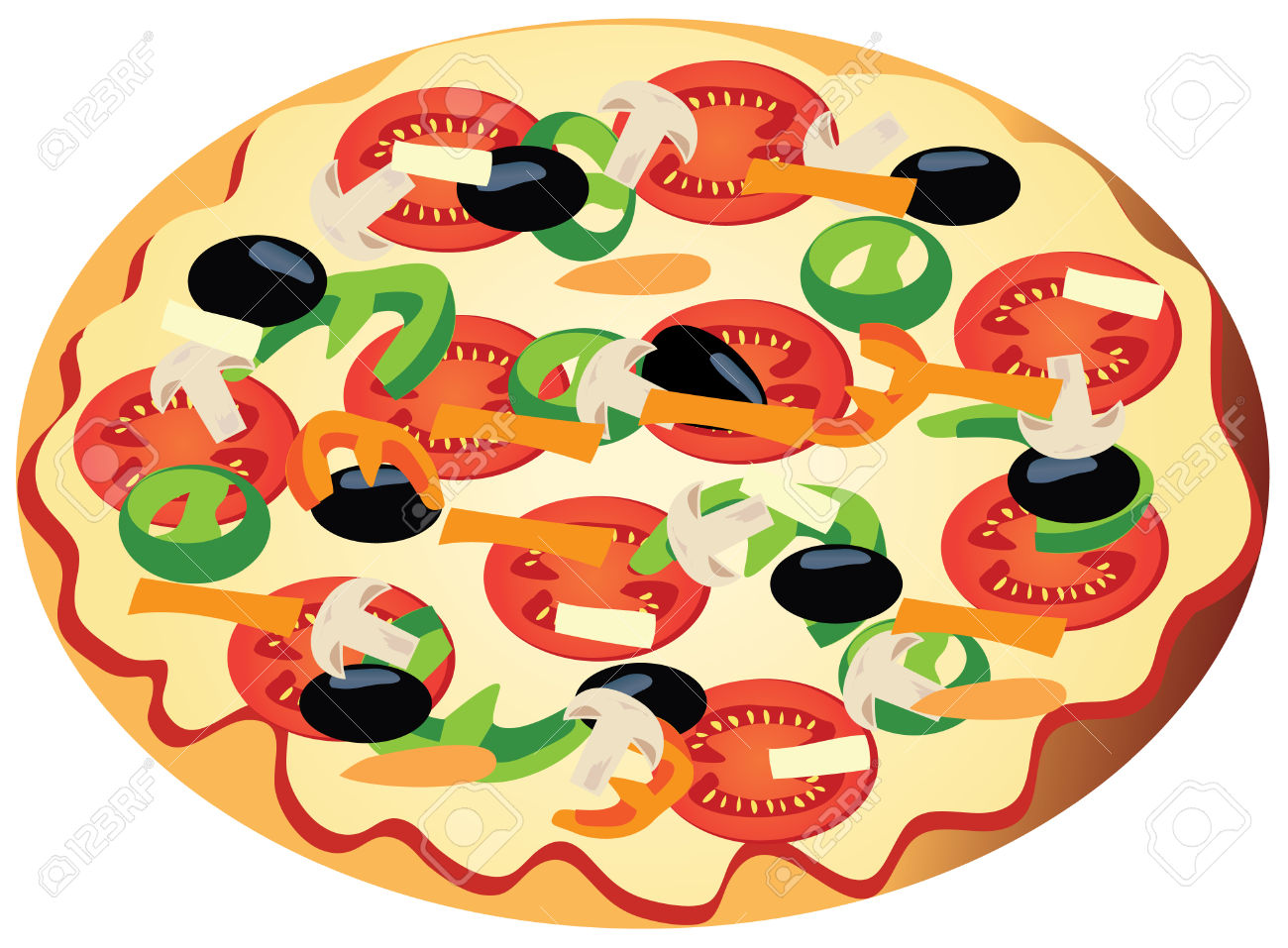 1300x957 Pizza Clipart Salad
