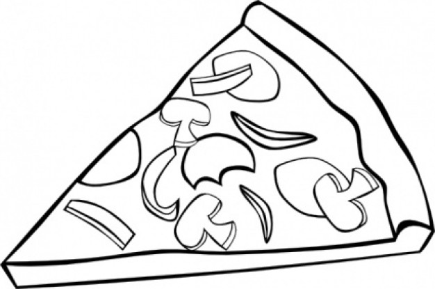 626x415 Pizza Black And White Pizza Clipart Black And White Free Images 3
