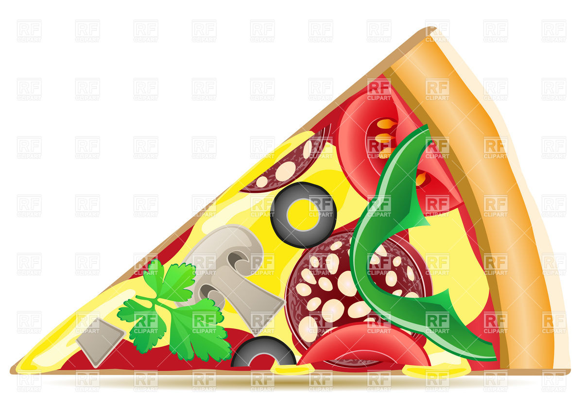 1200x840 Pizza Slice Royalty Free Vector Clip Art Image