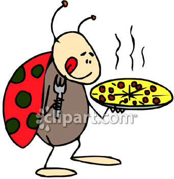 341x350 Royalty Free Clip Art Image A Ladybug Holding A Pizza