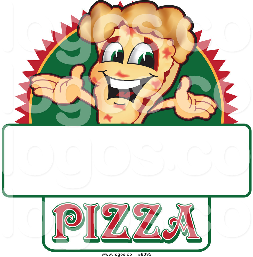 1024x1044 Royalty Free Clip Art Vector Logo Of A Happy Pizza Sign By