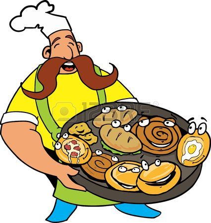 Pizza Comic Clipart