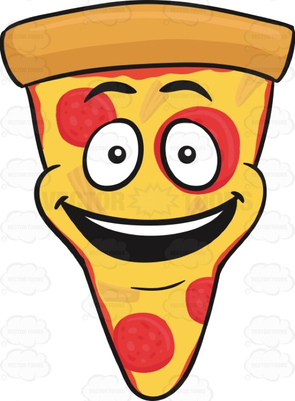589x800 Slice Of Pepperoni Pizza With A Bright Look On Face Emoji Pepperoni
