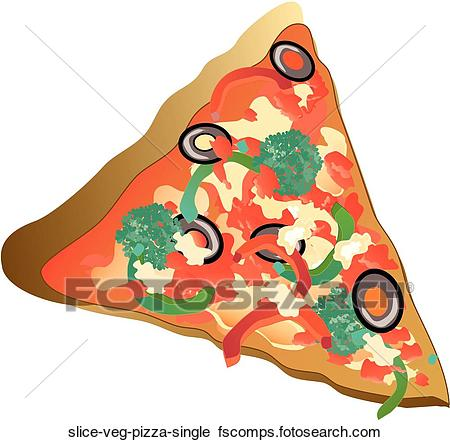 450x442 Clipart Of Slice Veg Pizza Single Slice Veg Pizza Single