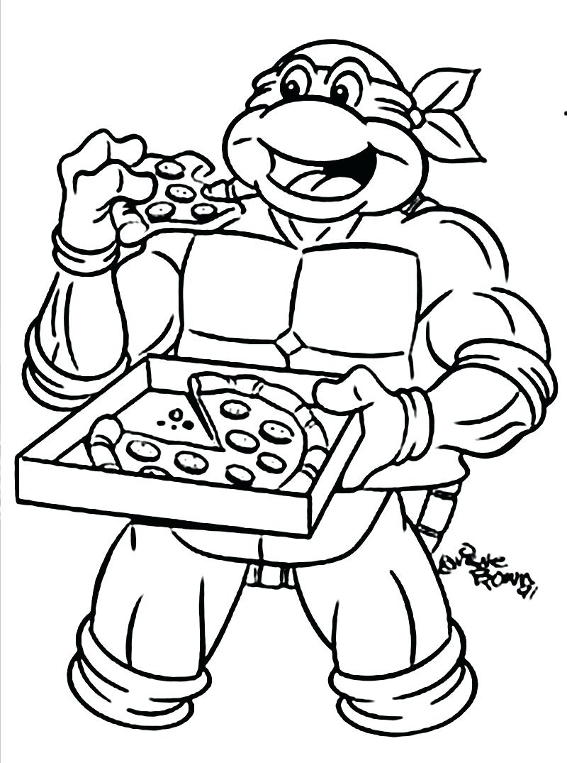 800x1075 Ninja Turtle Coloring Pages Eat Pizza 90 Terrific Topping Sheets