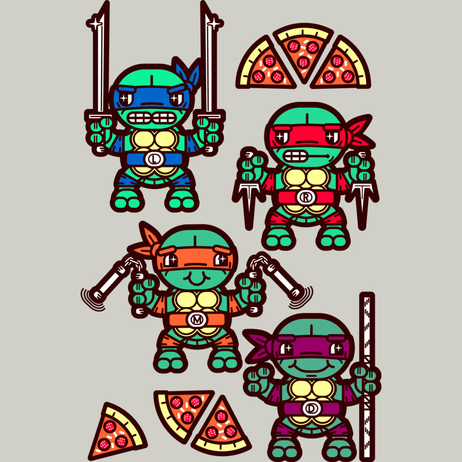 900x900 Ninja Turtles Pizza Clipart