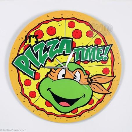 454x454 Teenage Mutant Ninja Turtles Pizza Clock