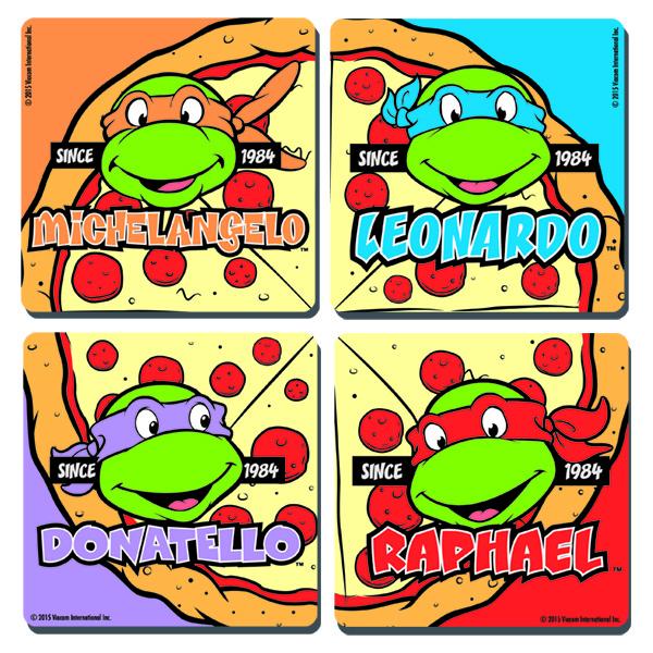600x600 Teenage Mutant Ninja Turtles Coasters Set Turtles Pizza Face