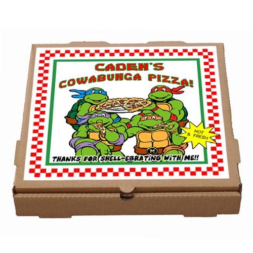 500x500 Teenage Mutant Ninja Turtles Pizza Box Label