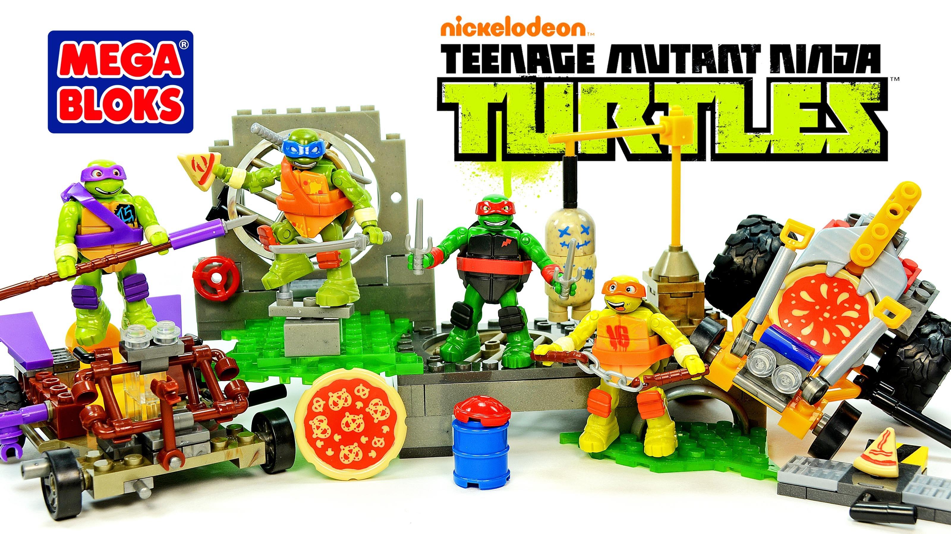 3200x1800 Mega Bloks Tmnt Raph Dojo Combat Leo Pizza Fury Donnie Pizza Buggy