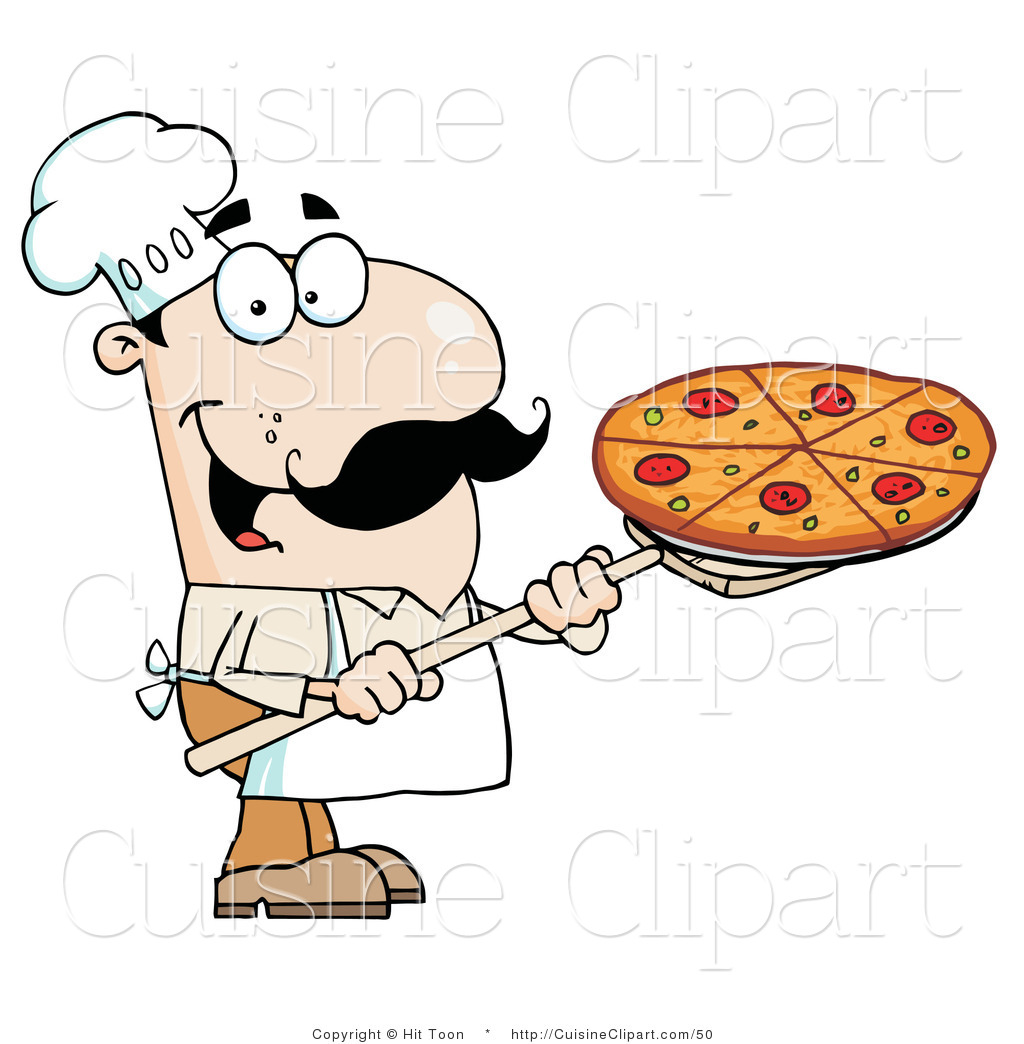 1024x1044 Cuisine Clipart Of Happy Caucasian Chef With Pizza Pie On