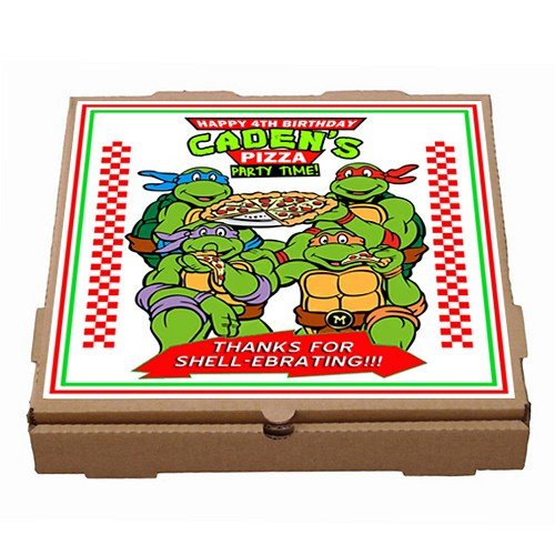 500x500 Printable Personalized Teenage Mutant Ninja Turtles Pizza Box