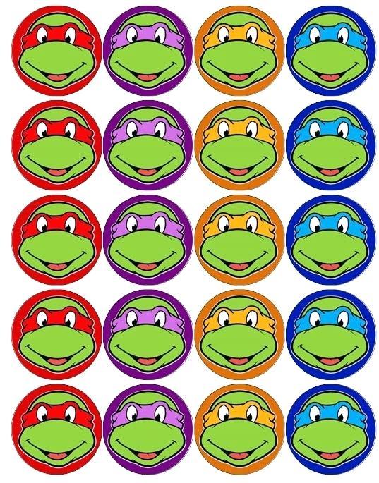 537x685 Teenage Mutant Ninja Turtles Cake Toppers Turtle And Pizza Cupcake