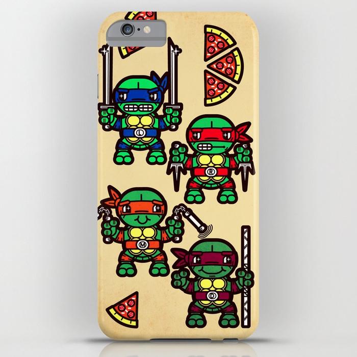 700x700 Teenage Mutant Ninja Turtles Pizza Party Iphone Case By Chobopop