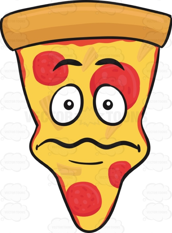 589x800 Nervously Scared Slice Of Pepperoni Pizza Emoji Cartoon Clipart