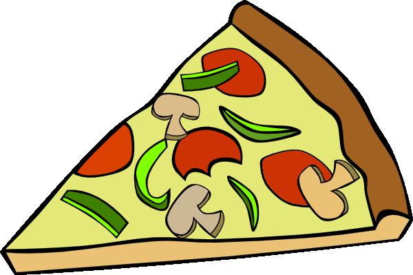 600x399 Pepperoni Pizza Slice Clip Art