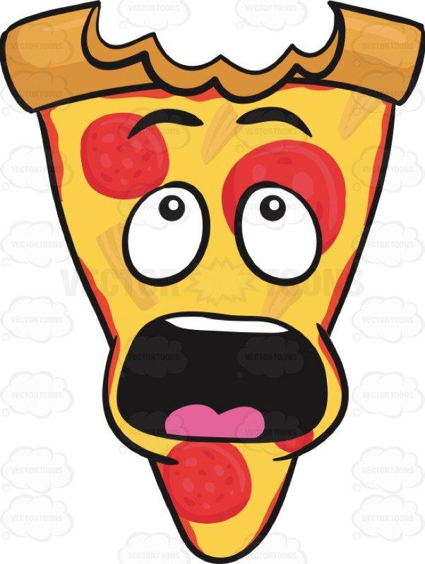 602x800 Slice Of Pepperoni Pizza Shocked With Big Bite Mark On Crust Emoji