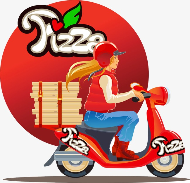 650x628 Motorcycle Delivery Pizza Beauty, Motorcycle Beauty Creative Pizza