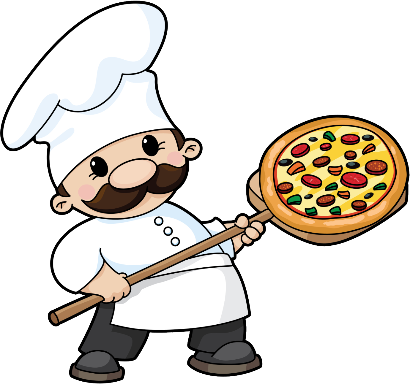 1380x1294 Pizza Guy Clipart