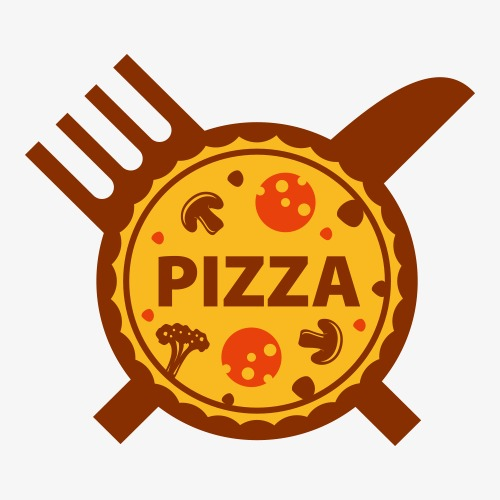 500x500 Pizza Set Vector Logo Logo, Pizza, Logo Logo, Label Png And Vector
