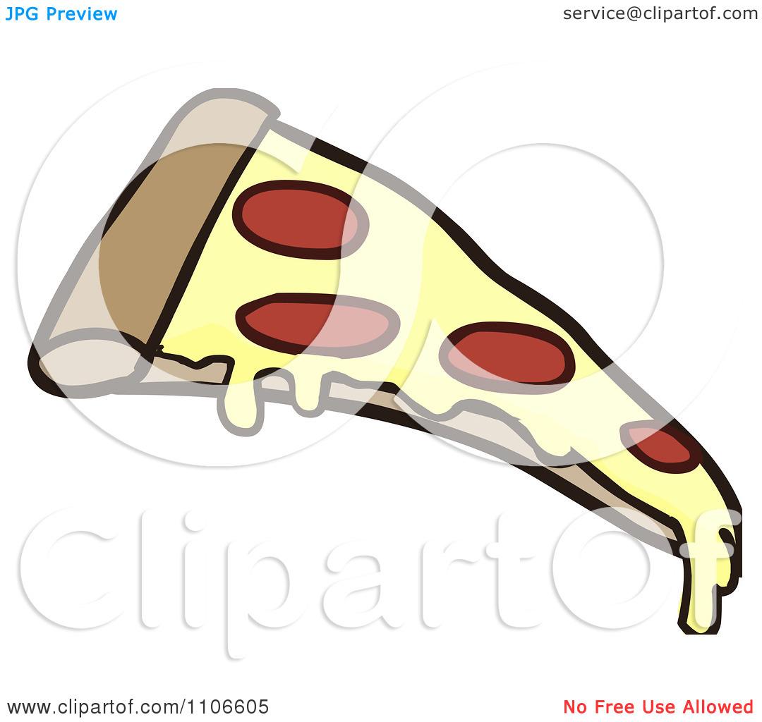 1080x1024 Pepperoni Pizza Slice Clipart