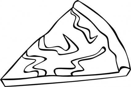 425x282 Cheese Pizza Slice B And W Clip Art Vector Clip Art Free Vector