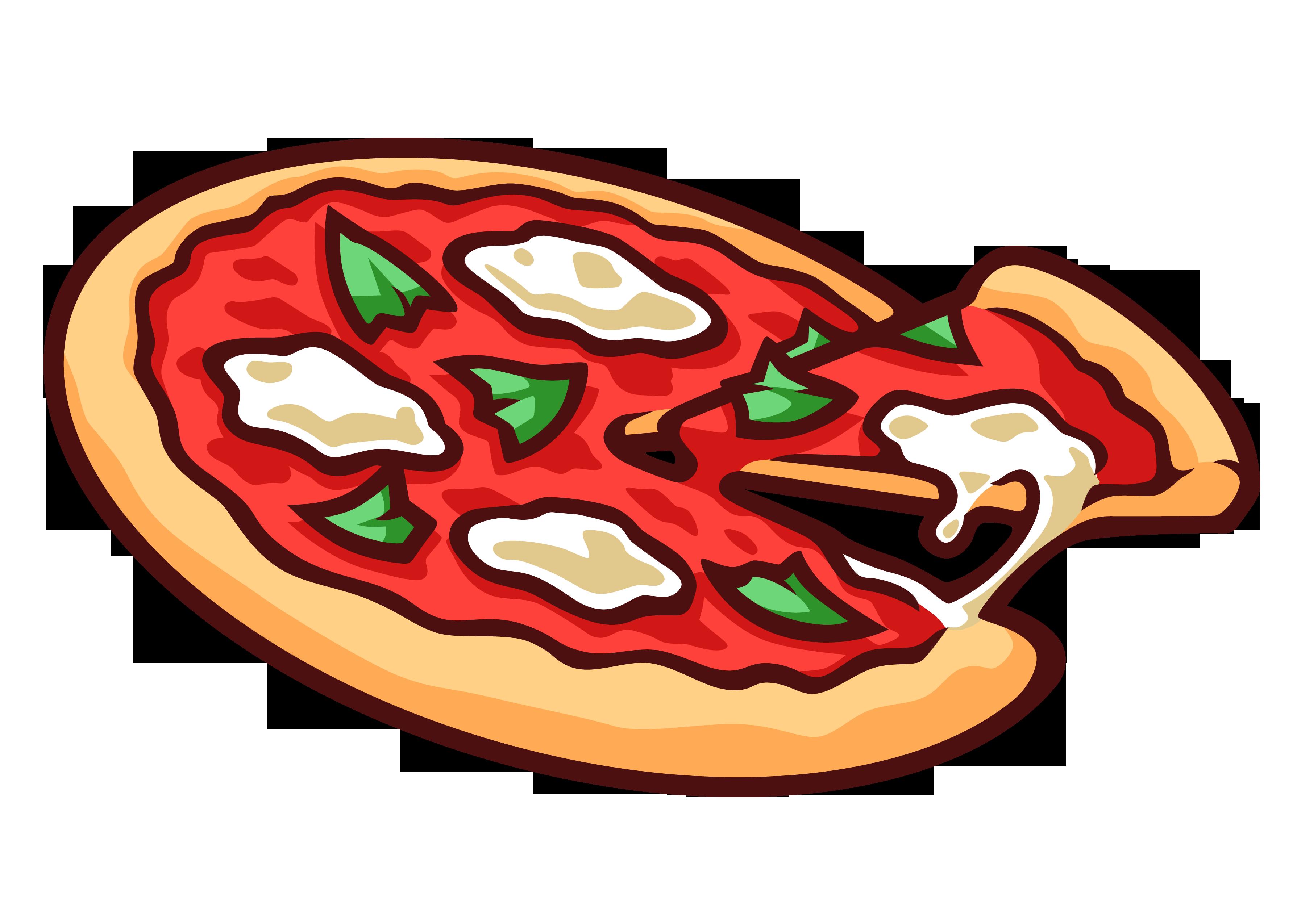 3579x2551 Vector Clipart Pizza