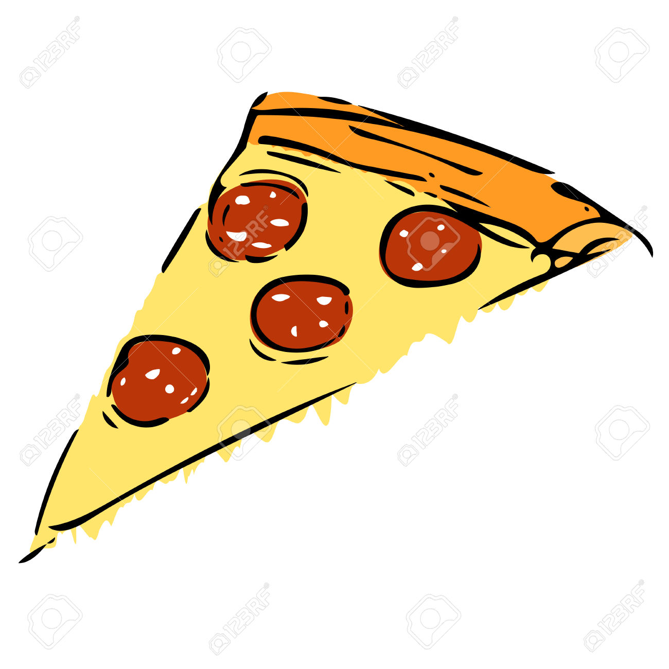 1300x1300 Drawn Pizza Cheesy Pizza