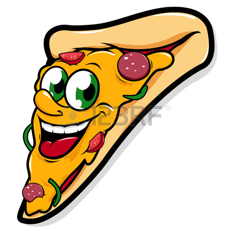 450x450 Happy Pizza Slice Vector Character Royalty Free Cliparts, Vectors