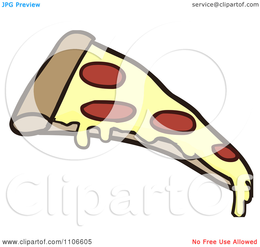 1080x1024 Pepperoni Pizza Slice Clipart